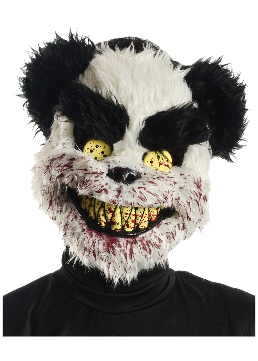Bloody Black And White Teddy Bear Mask Scary Costumes