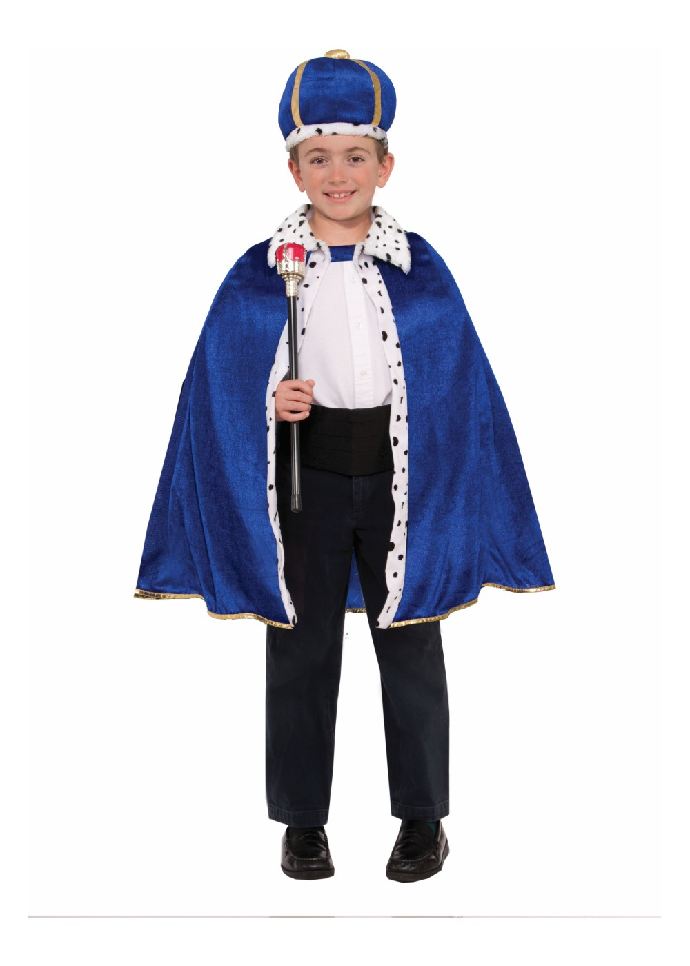 boys king blue robe and crown set