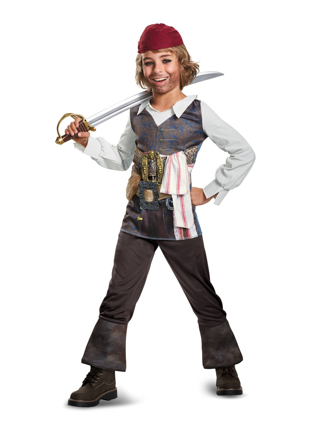 Boys Pirates Of The Caribbean 5 Jack Sparrow Costume