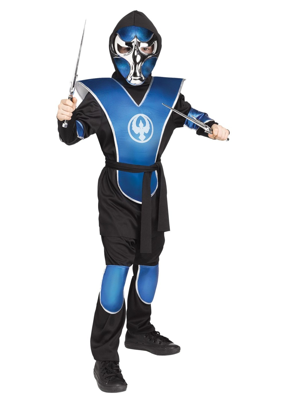 Boys Blue Raven Ninja Costume
