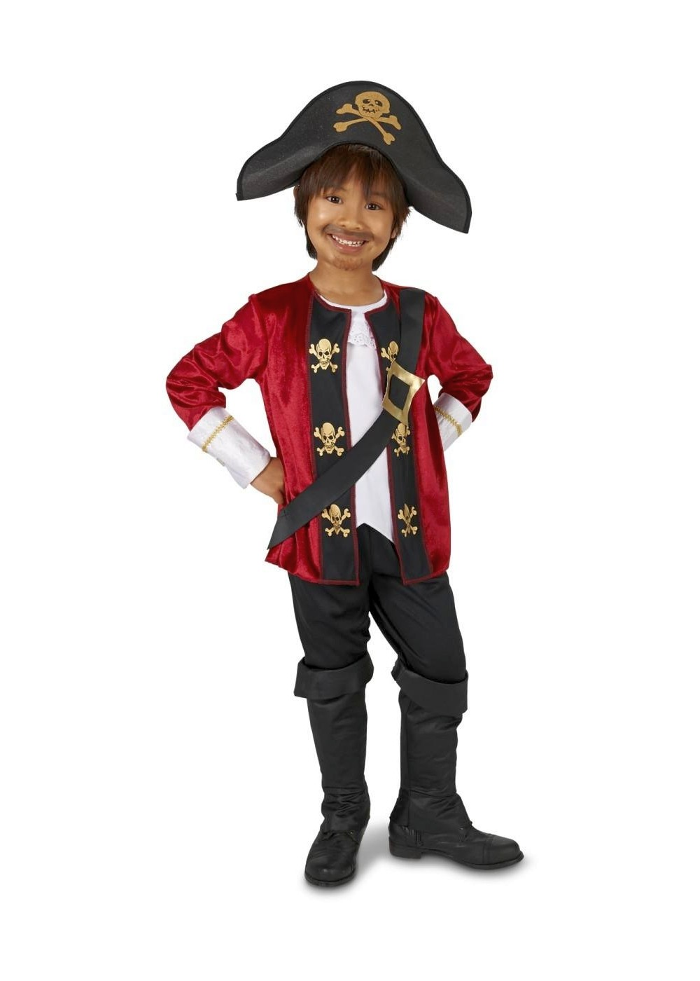 and a Hat Includes a Jacket Pants Pirate Captain Costume for Boys