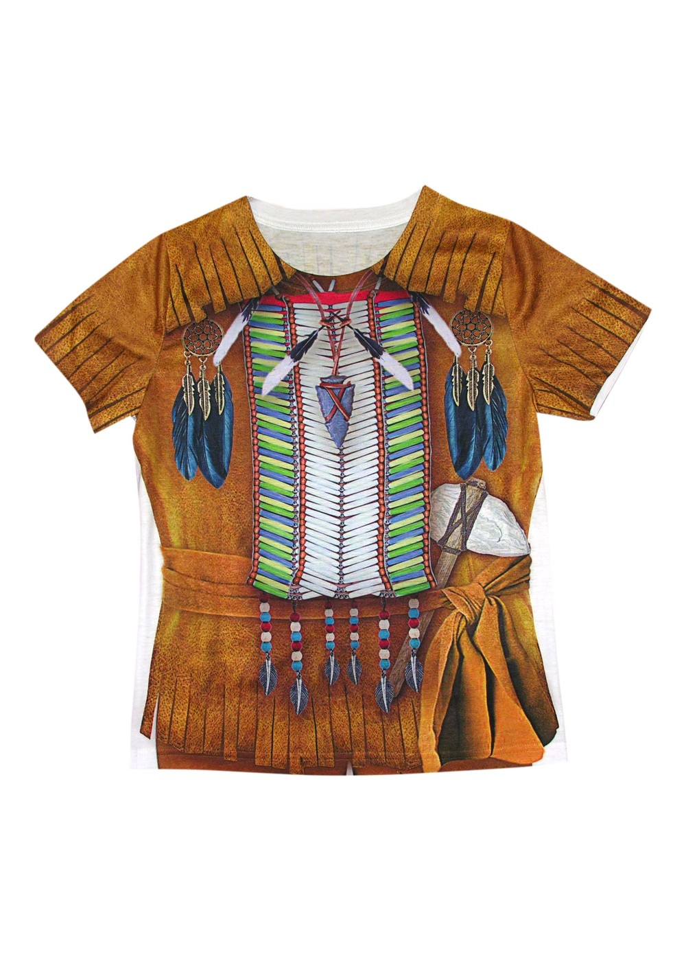 3d Indian Boys Costume Shirt Holiday Costumes