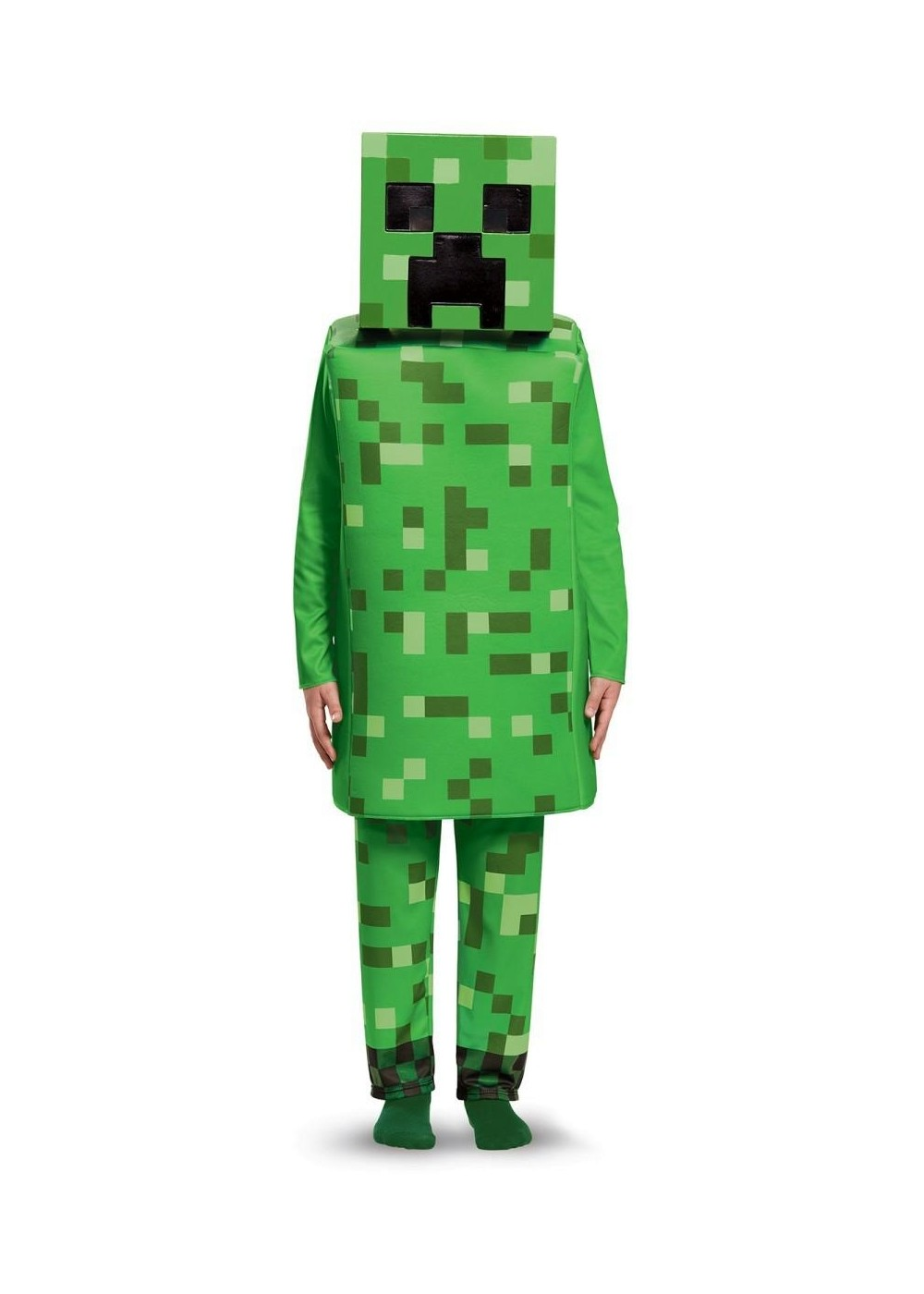 Boys Minecraft Green Creeper Costume