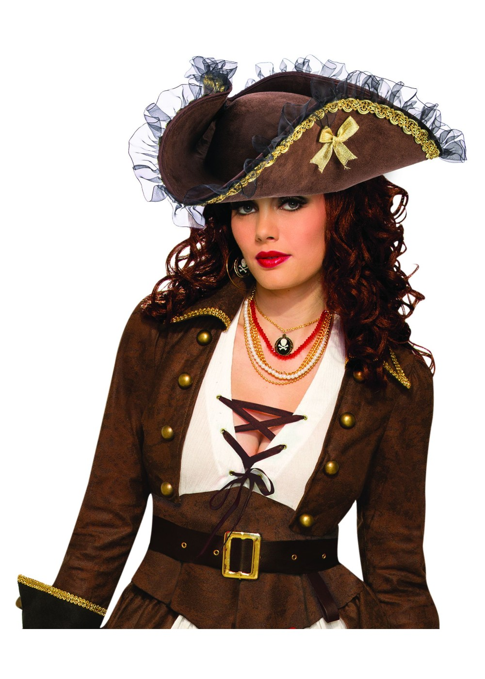 Brown Female Pirate Hat Costumes