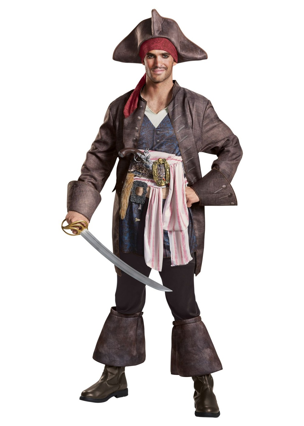 Pirates Of The Caribbean Captain Jack Sparrow Mens Costume