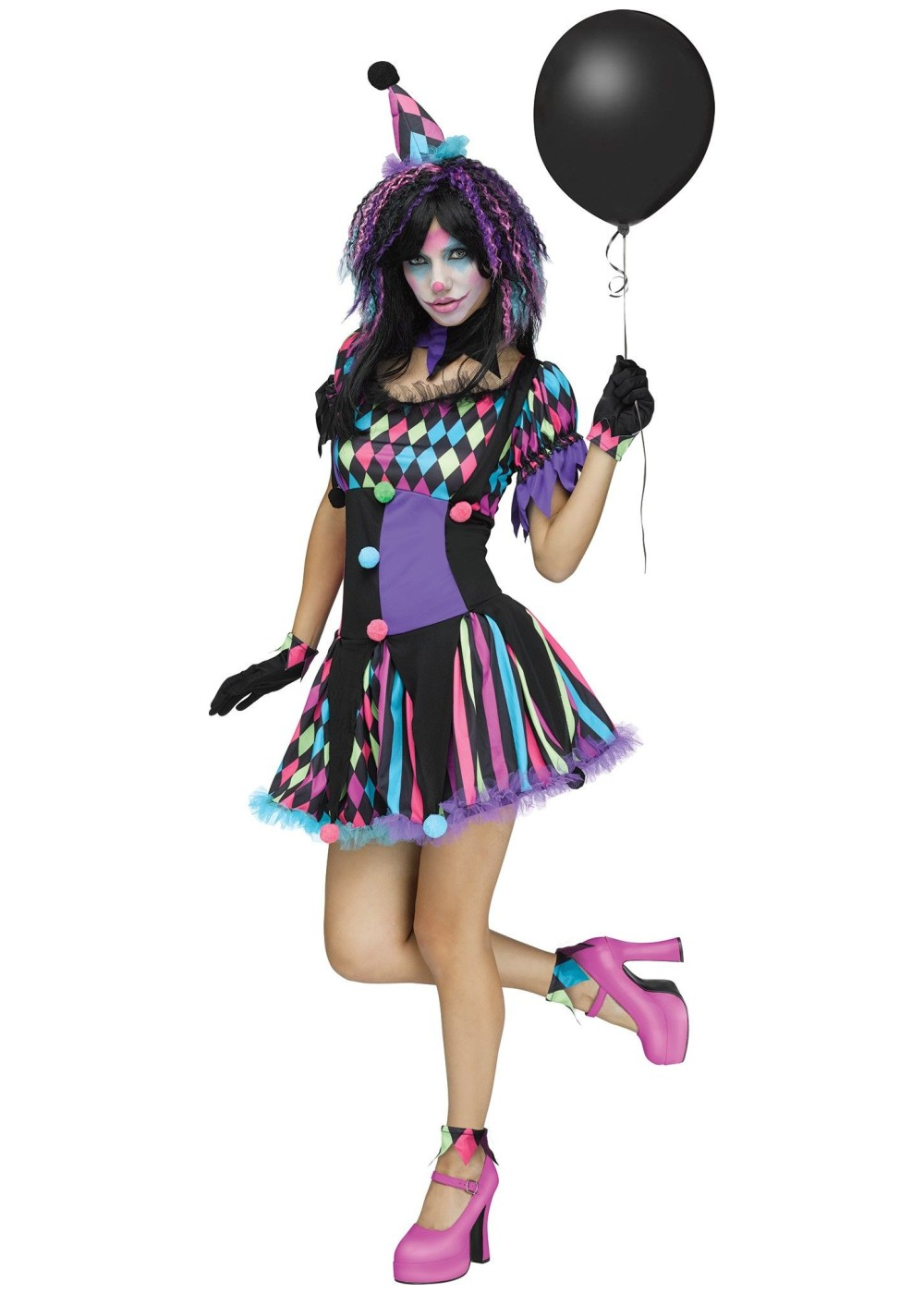 Circus Clown Women Costume Clown Costumes