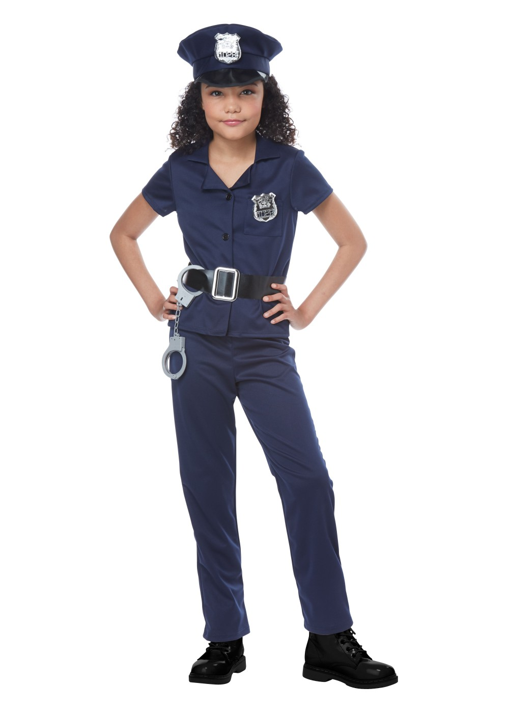 Police officer girls costume professional costumes - Police officer child costume ...