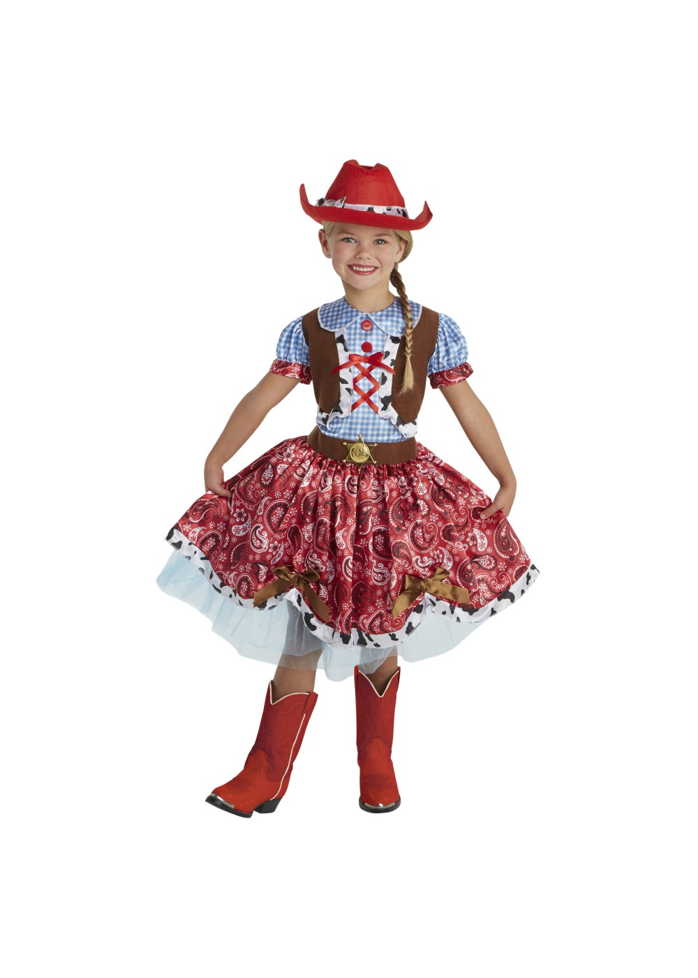 Kids Girls Cowgirl Costume