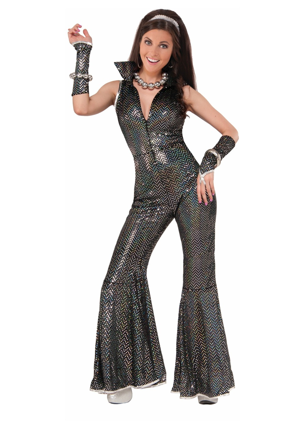 Disco Jumpsuit Women Costume 1970s Costumes