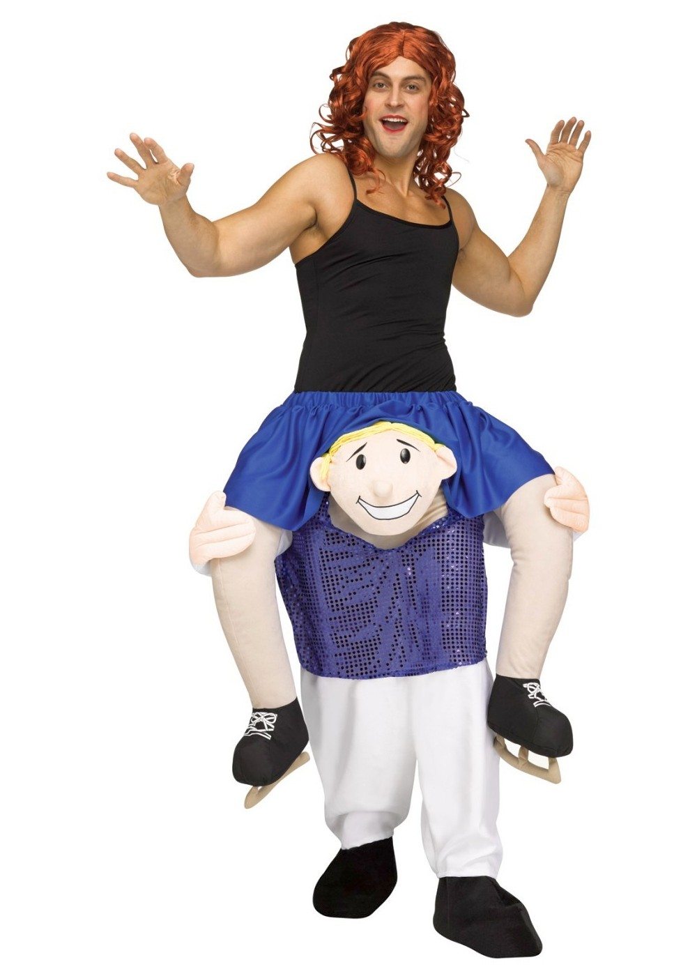 ice skating halloween costumes source funny ice skater piggyback costume funny costumes