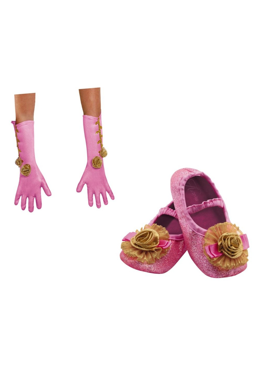 Kids Aurora Shoes And Gloves Toddler Girls Costume Kit