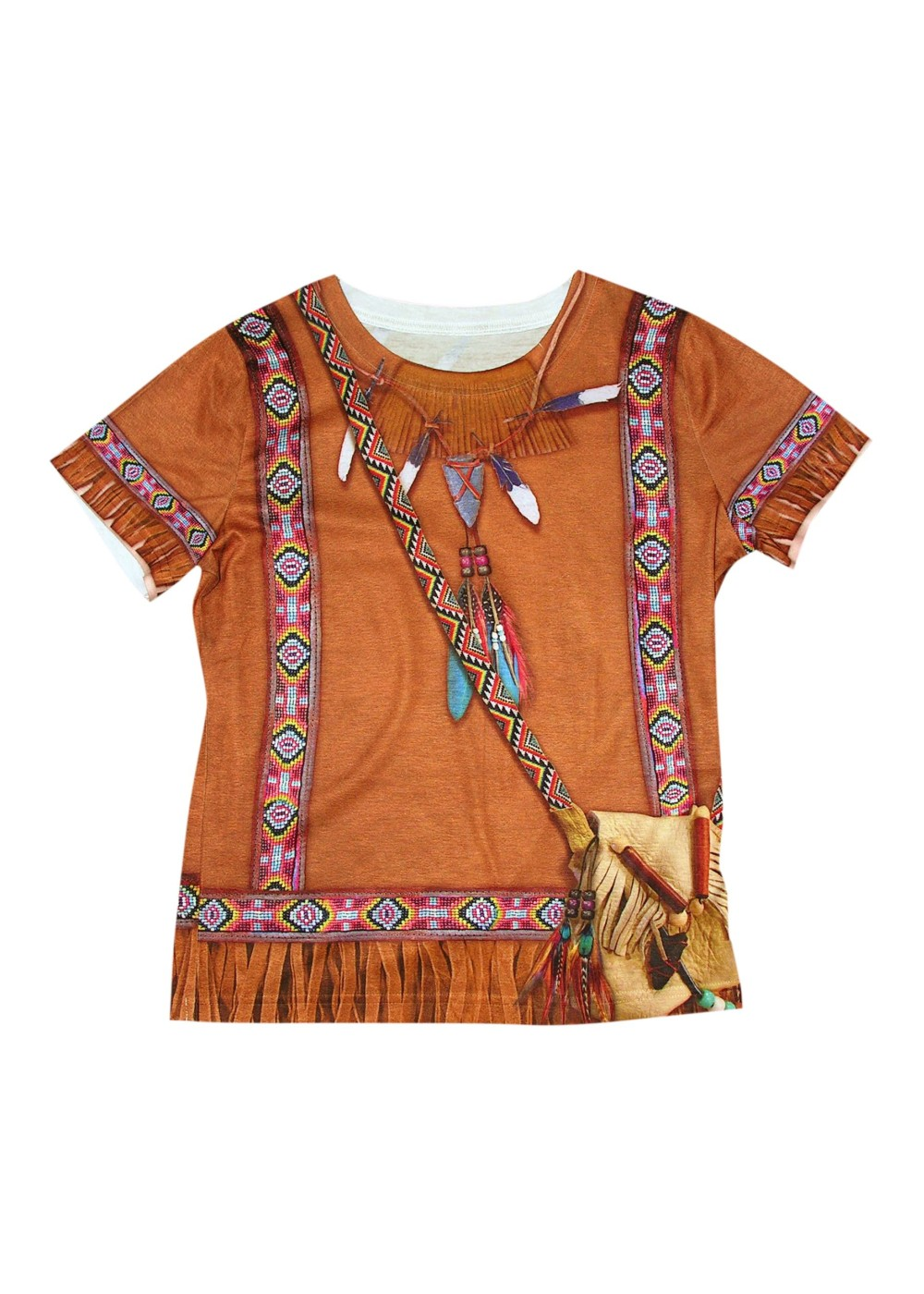 Kids Indian 3d Girls Costume Shirt