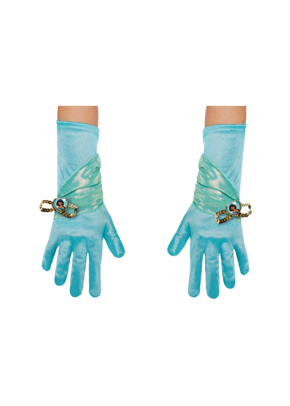 Kids Princess Jasmine Girls Costume Gloves