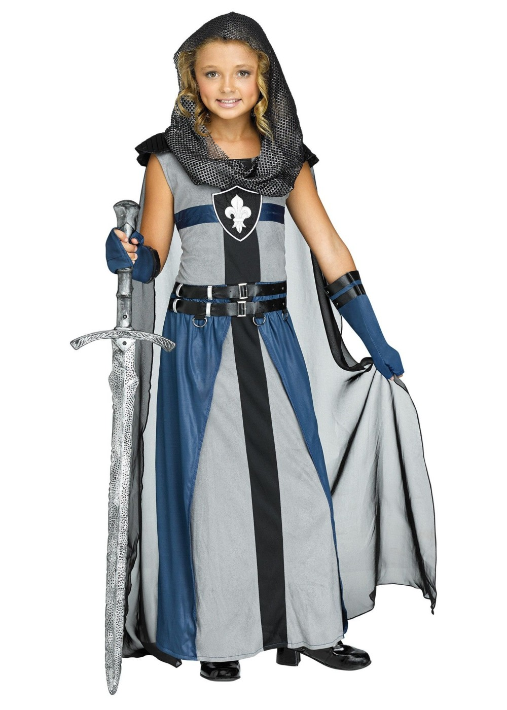 Kids Knight Girls Costume