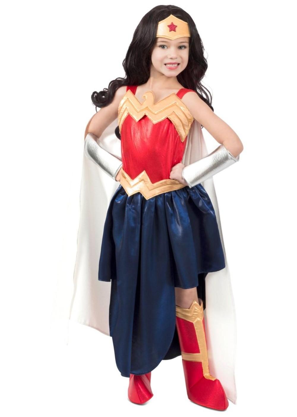 Girls Legendary Wonder Woman Costume - Superhero Costumes-7472