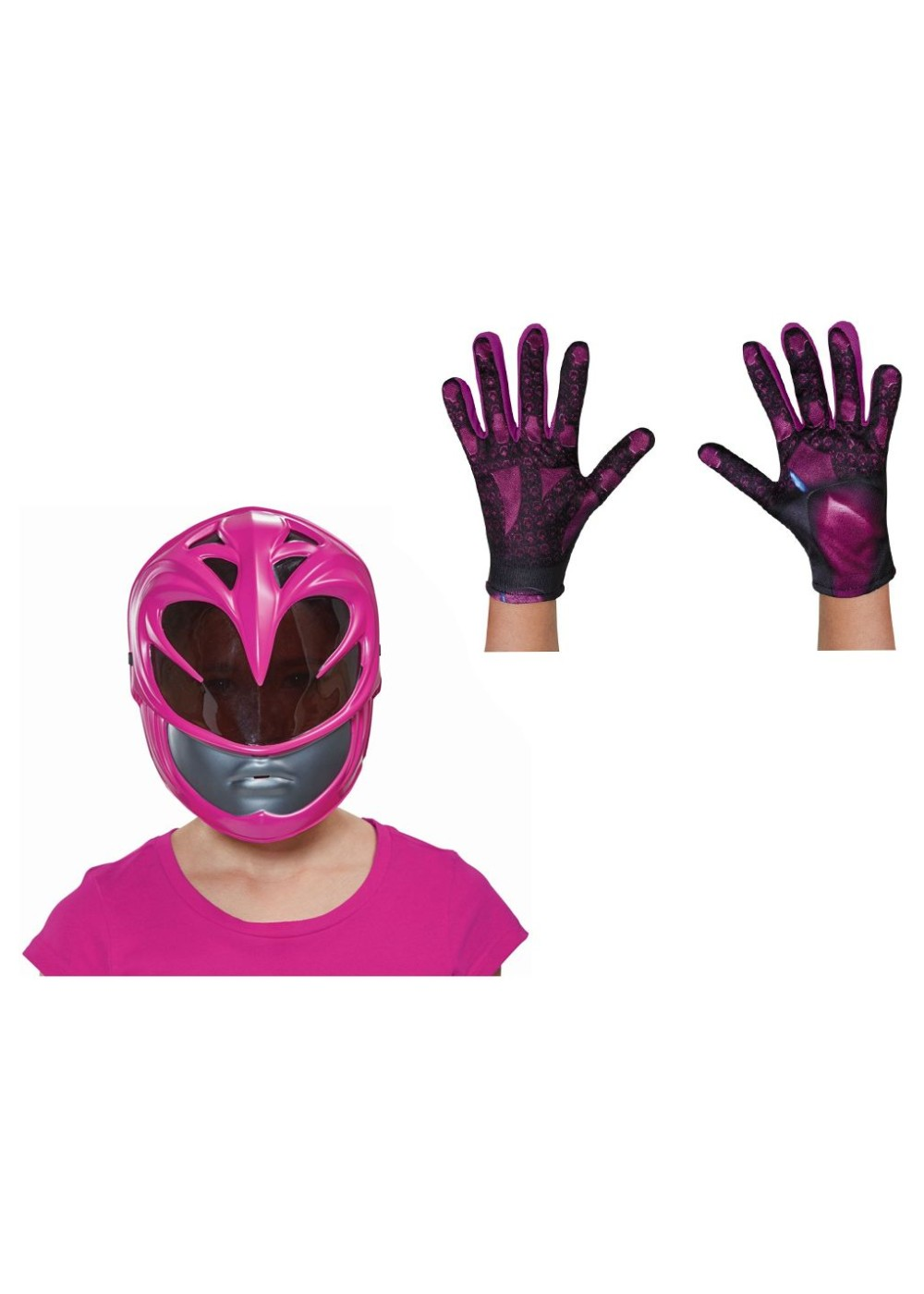 Kids Pink Power Ranger Movie Girls Costume Kit