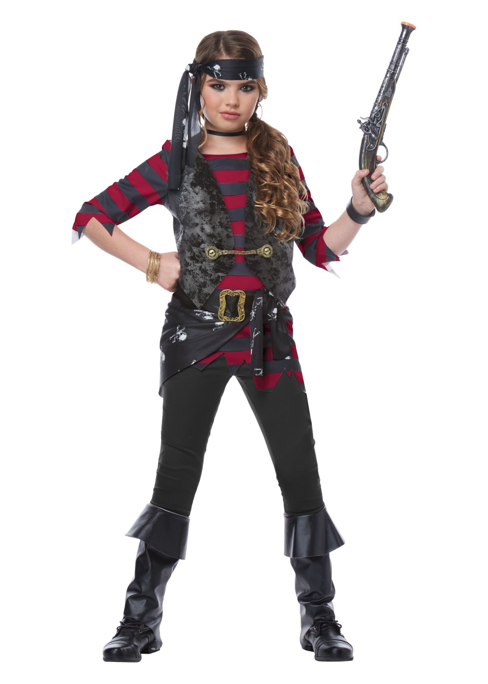 Kids Renegade Pirate Girls Costume