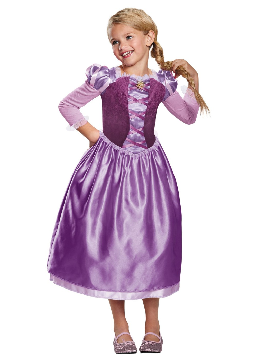 Kids Girls Rapunzel Day Dress Costume