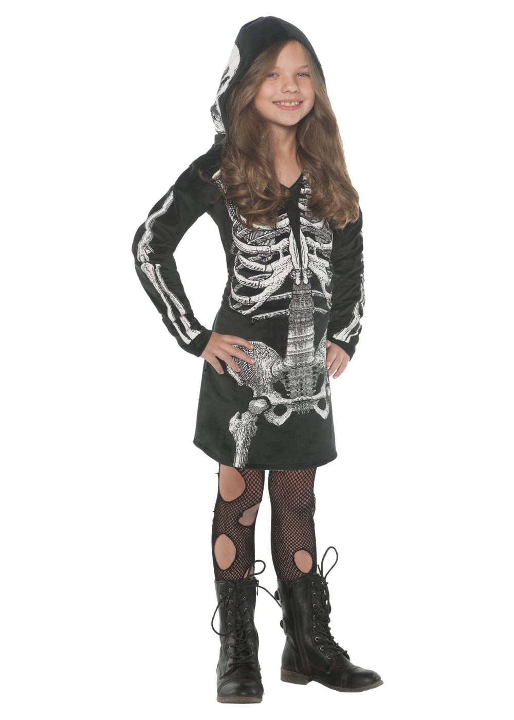 f1e60a405 Girls Skeleton Hoodie Dress - General Category