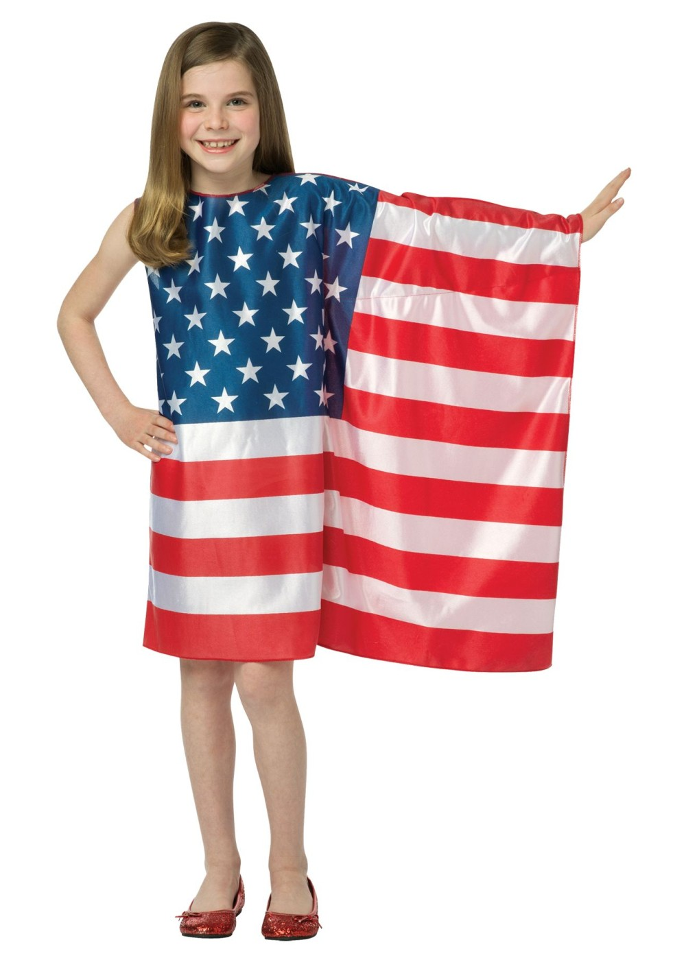 4637b214705 Girls Usa Flag Dress - Holiday Costumes