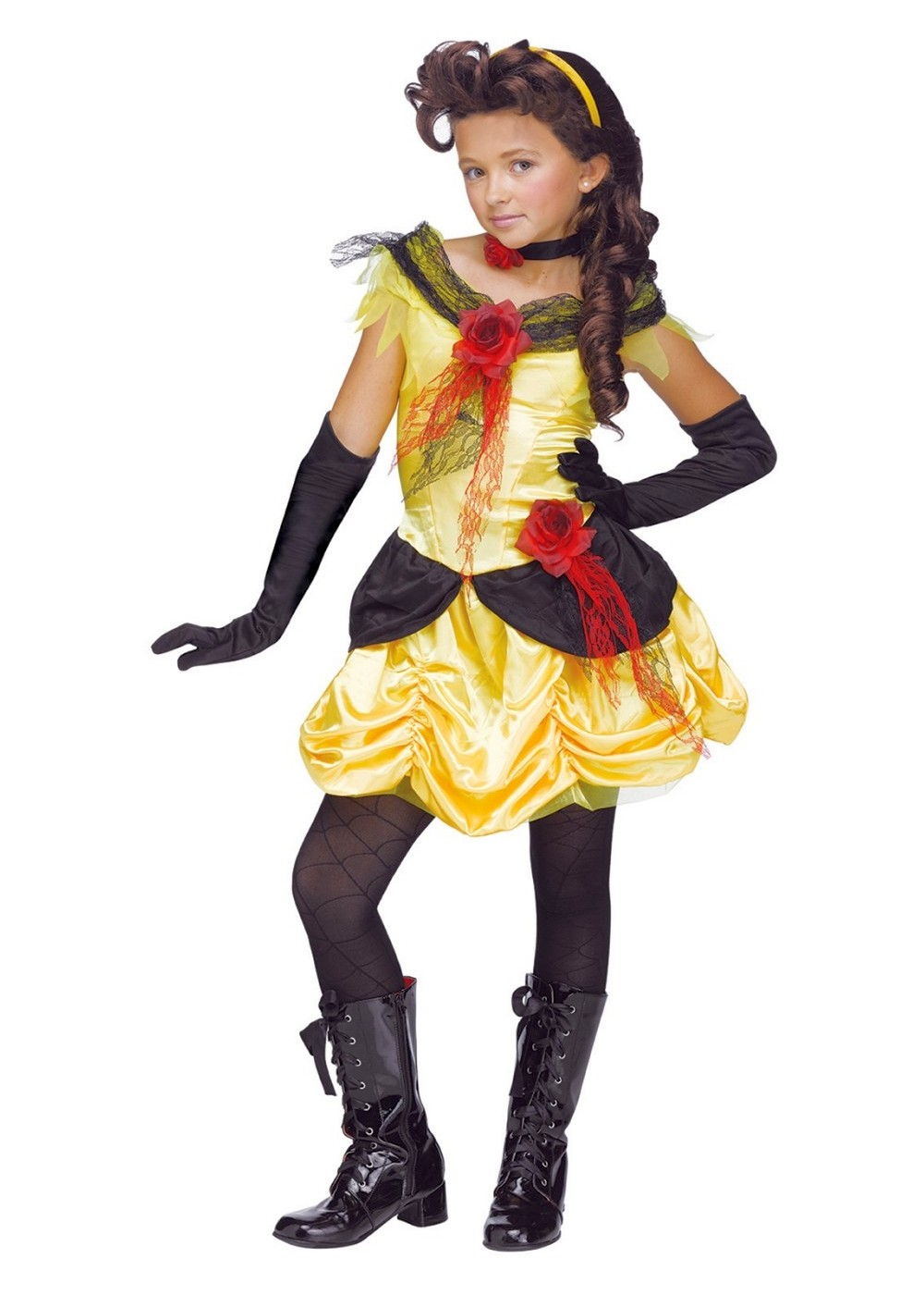 Kids Gothic Princess Belle Costume