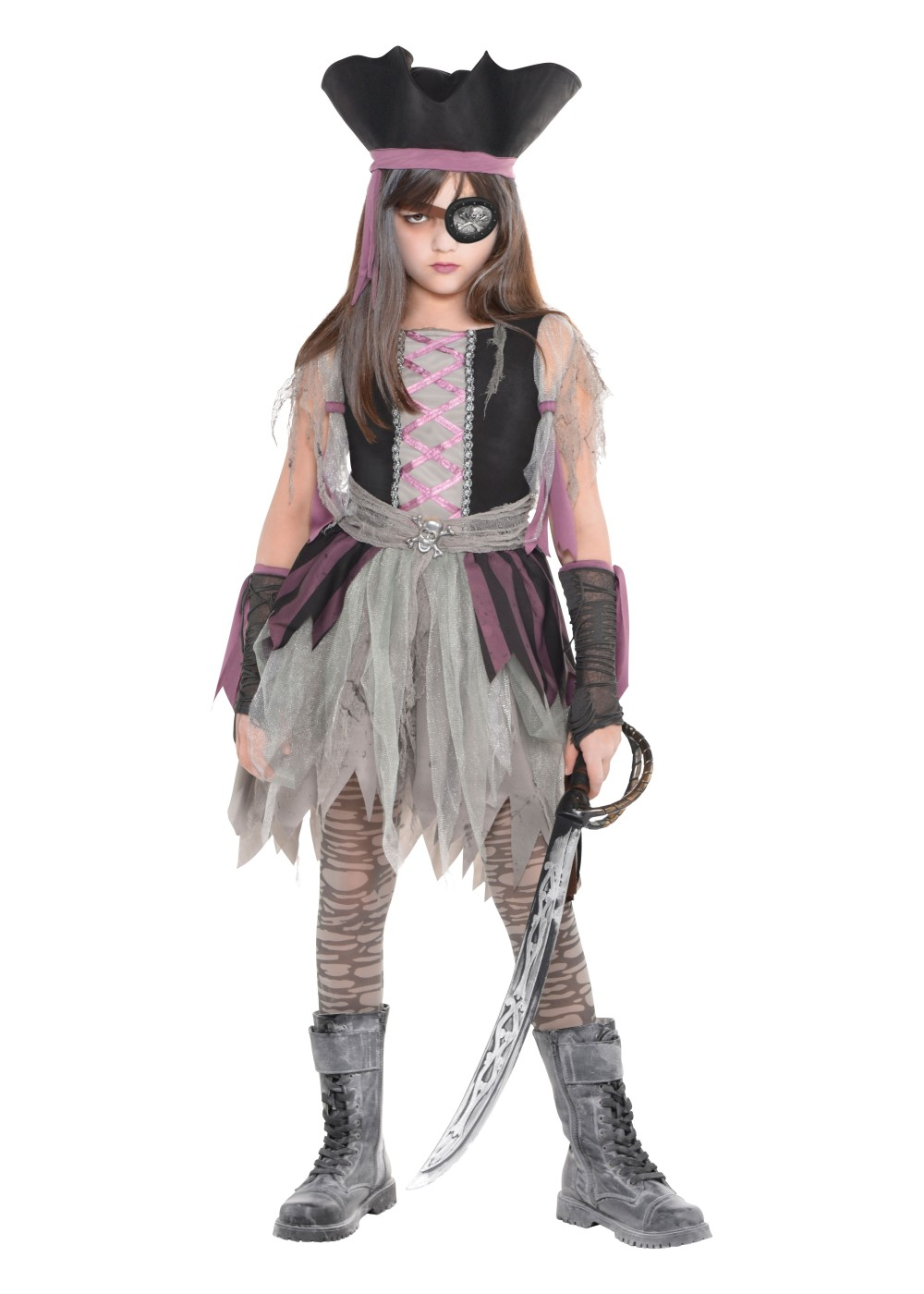 Kids Haunted Pirate Girls Costume