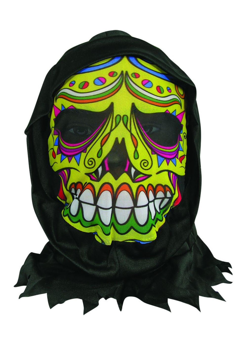 Day Of The Dead Hooded Mask