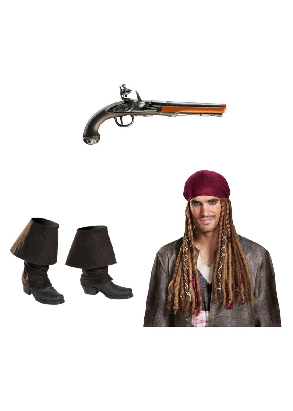 Boot Covers Pirates Caribbean Dead Men Tell No Tales Halloween Costume Accessory