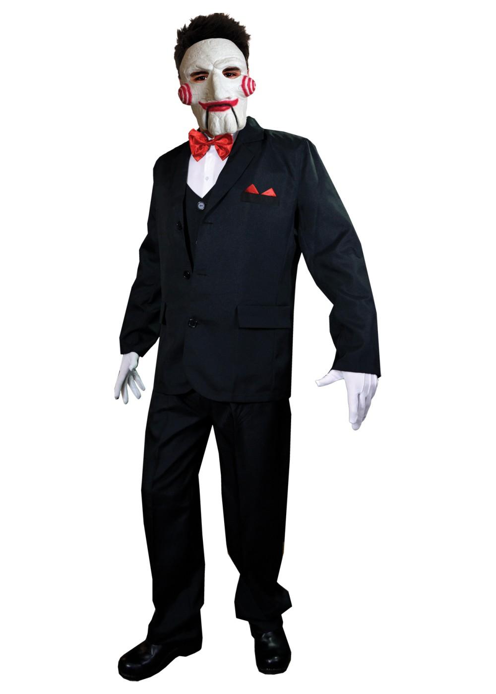 Mens Saw Movie Billy Jigsaw Costume