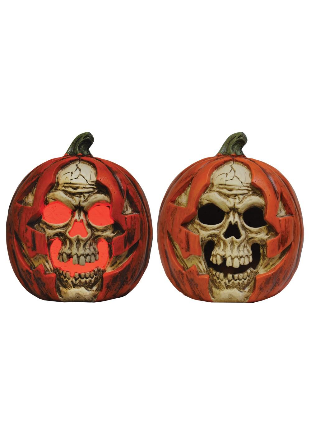 Lightup Skull Pumpkin Decoration Decorations
