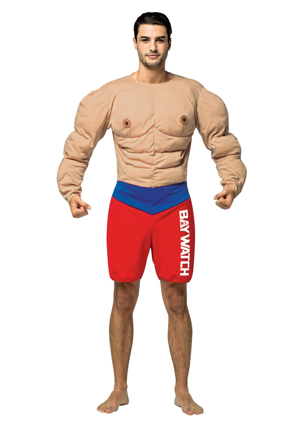 Mens Baywatch Muscled Lifeguard Costume.
