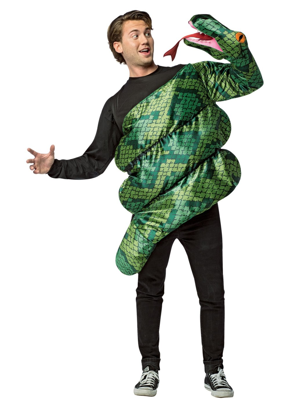Mens Green Anaconda Costume