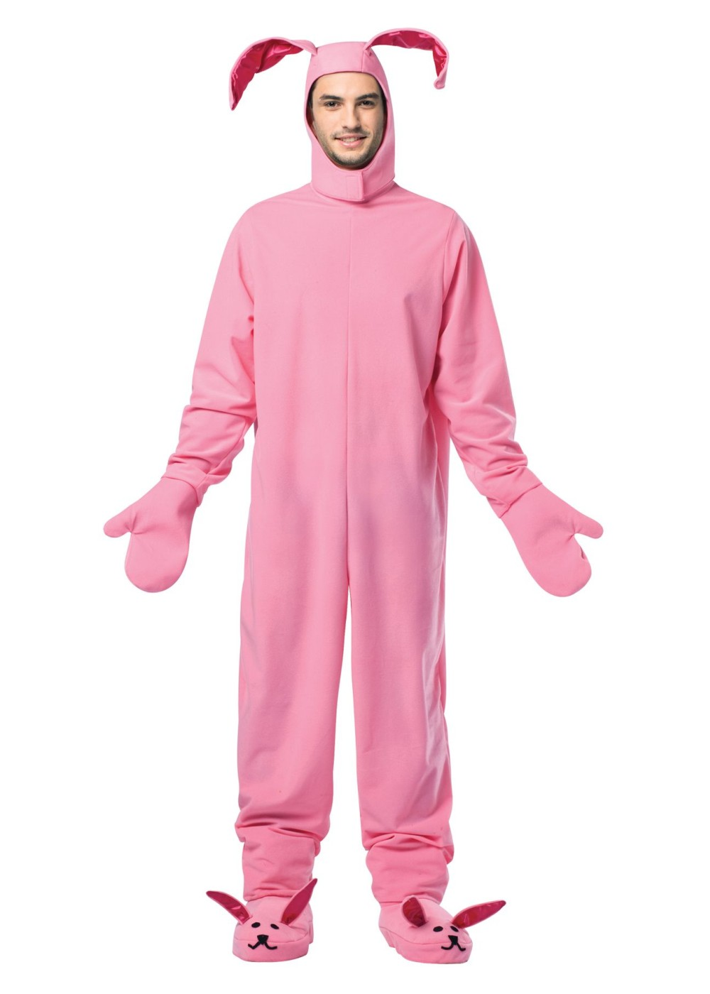 Mens Pink Bunny Costume - Animal Costumes
