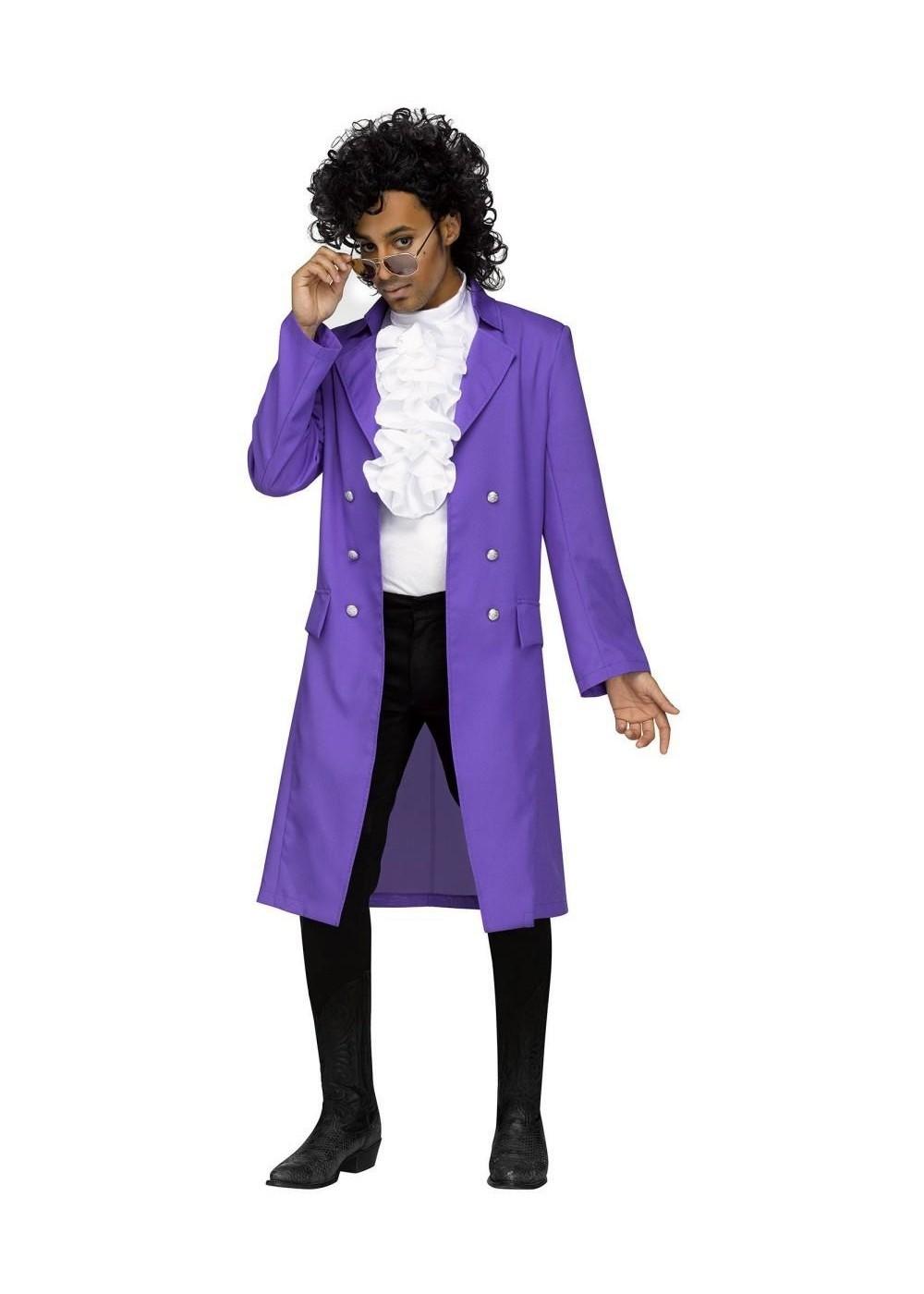 Mens Plus Prince Purple Rain Jacket Cosplay Costumes
