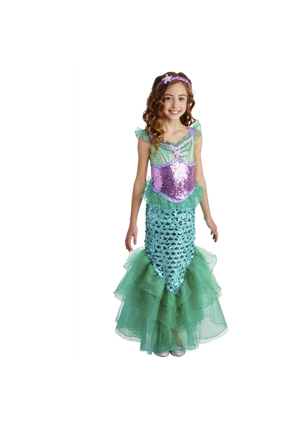 Girls Mermaid Costume Dress  sc 1 st  Wonder Costumes & Girls Mermaid Costume Dress - Disney Costumes