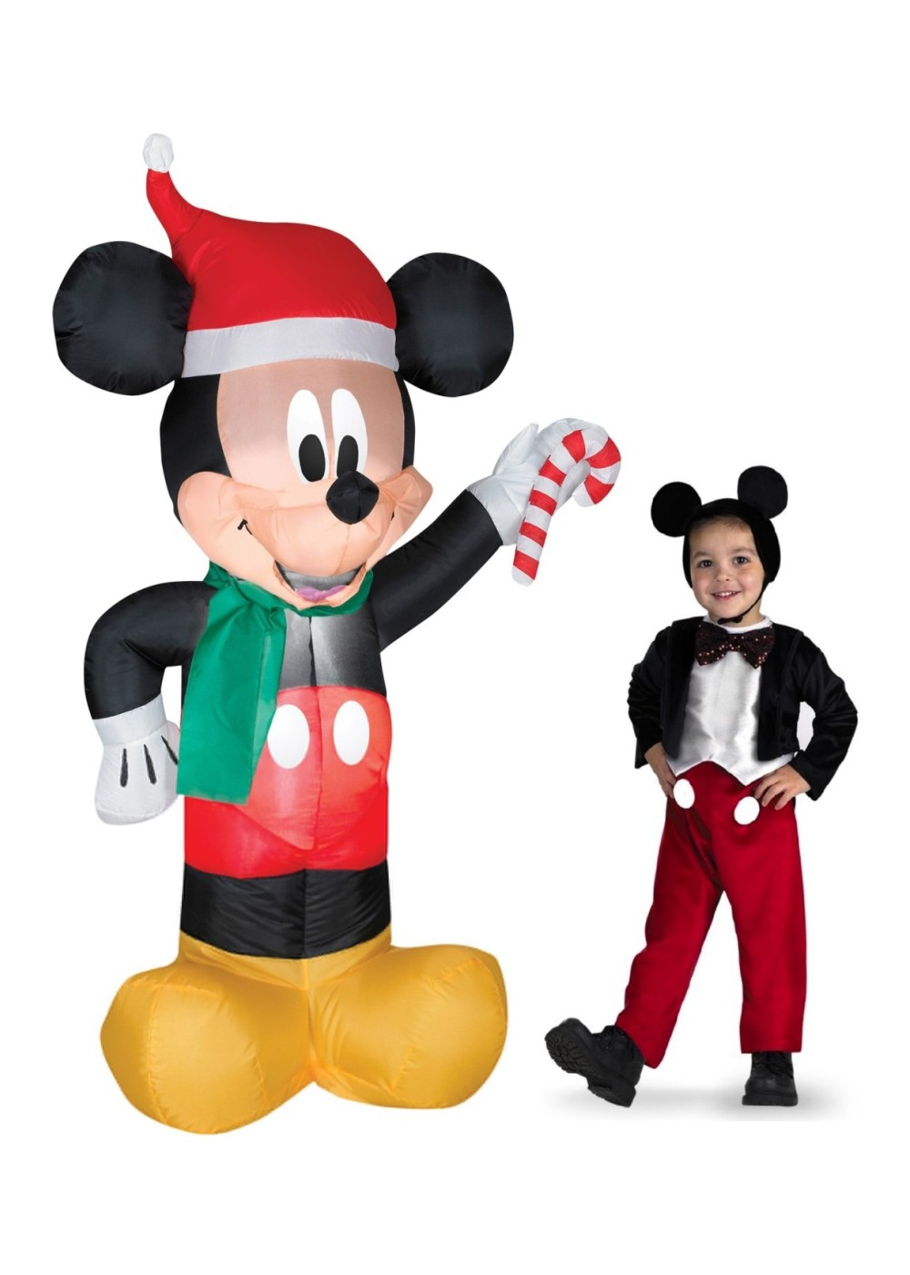 Mickey Mouse Inflatable And Costume Set