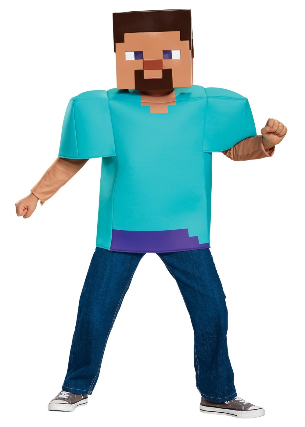 Minecraft Steve Boys Costume Video Game Costumes