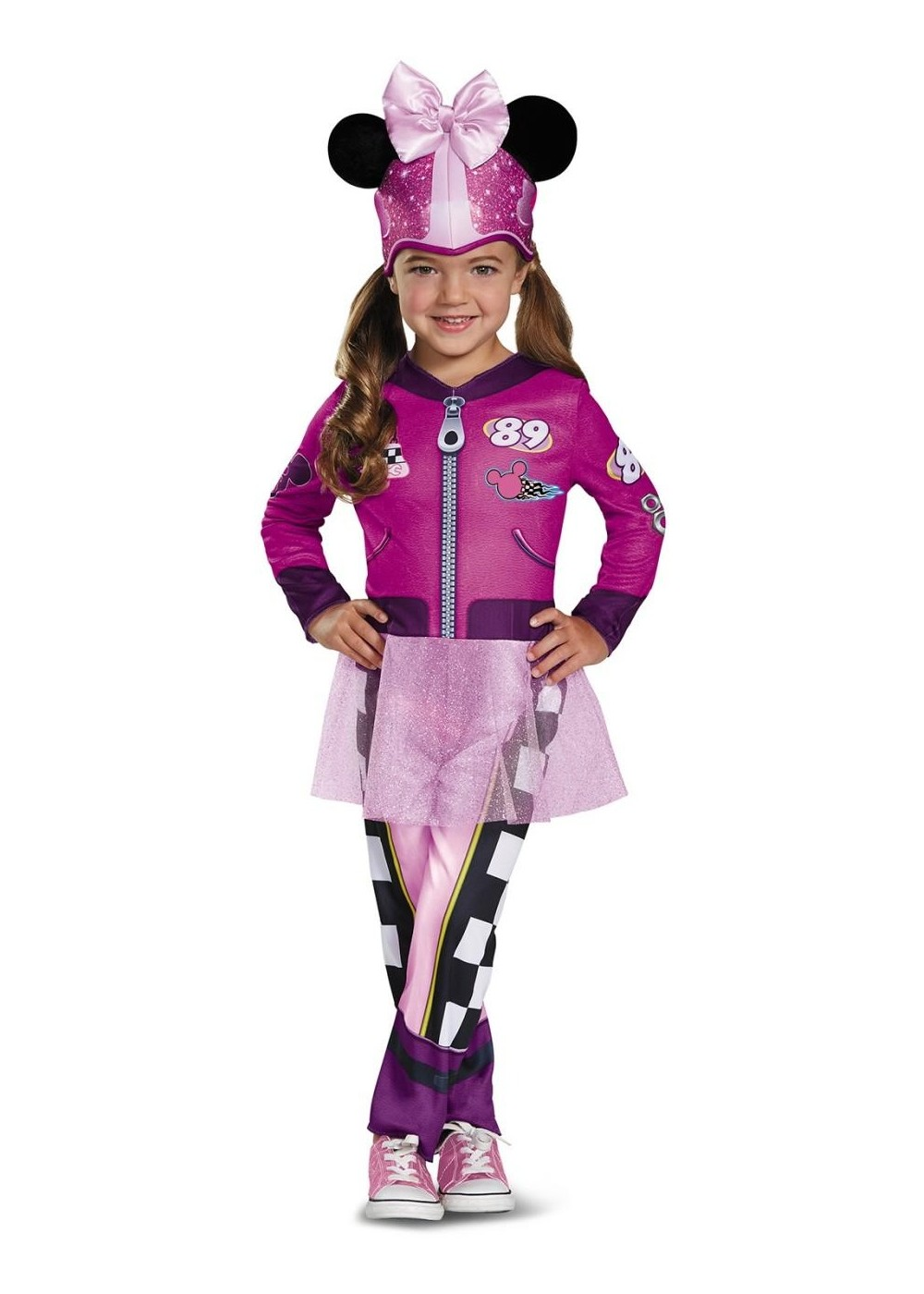 Kids Minnie Mouse Road Racer Toddler Girls Costume