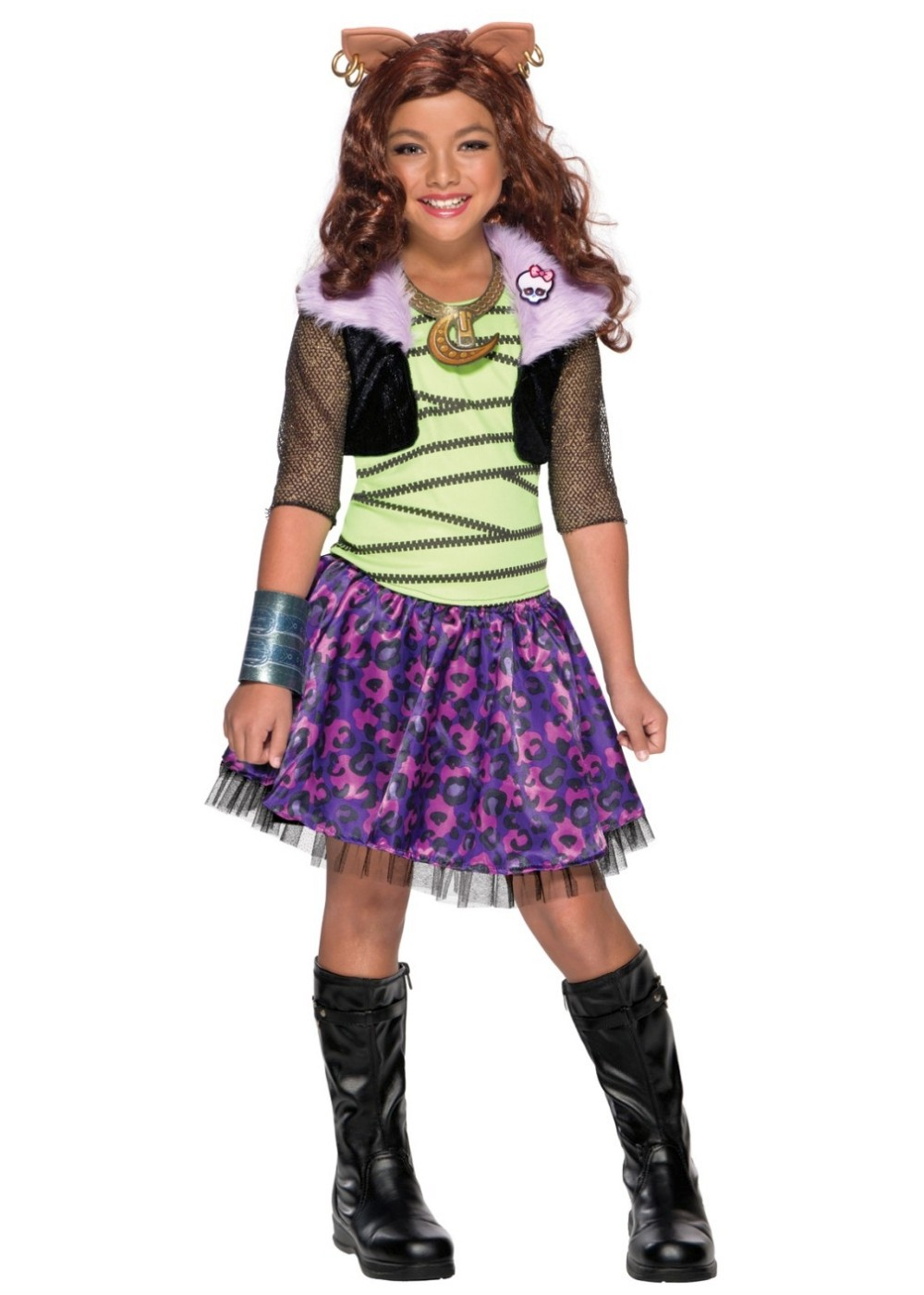 Monster High Clawdeen Wolf Girls Costume  sc 1 st  Wonder Costumes & Monster High Clawdeen Wolf Girls Costume - Cosplay Costumes