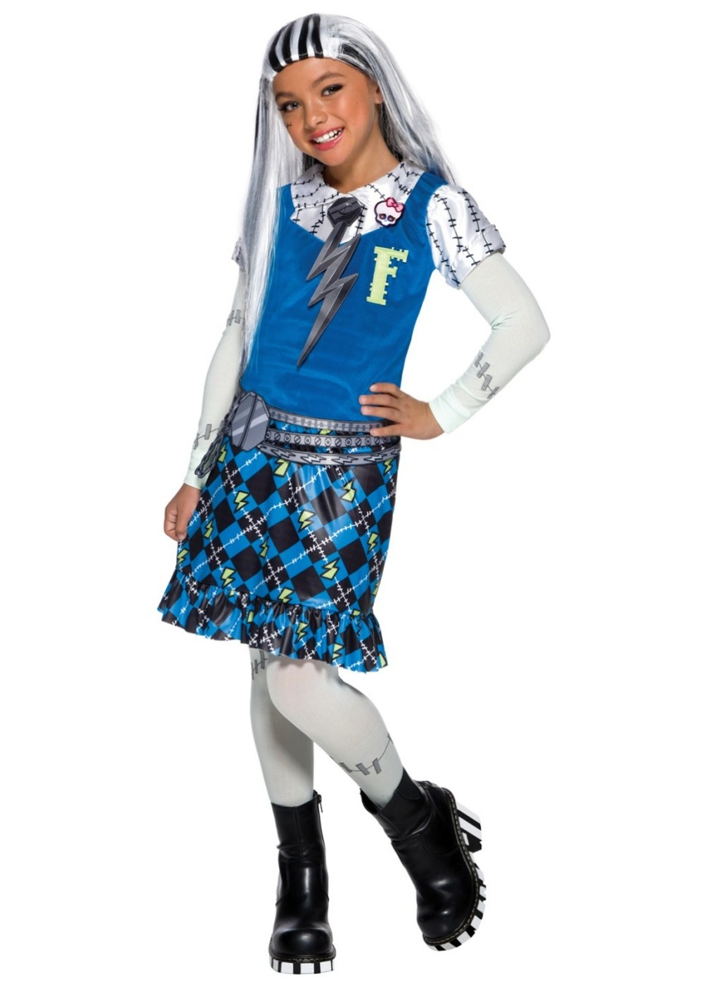 Monster High Frankie Stein Girls Costume  sc 1 st  Halloween Costumes : monster high girl halloween costumes  - Germanpascual.Com
