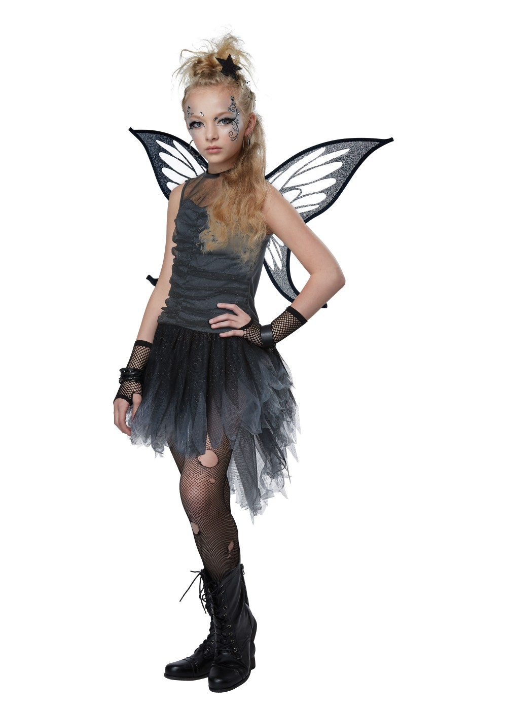 Black Fairy Girls Costume Flapper Costumes