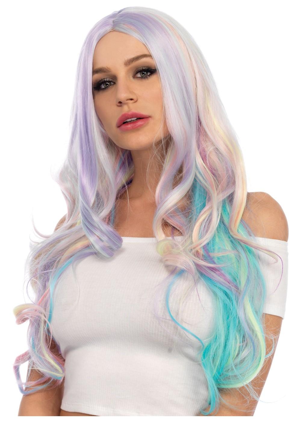Pastel Rainbow Women Wig Wigs
