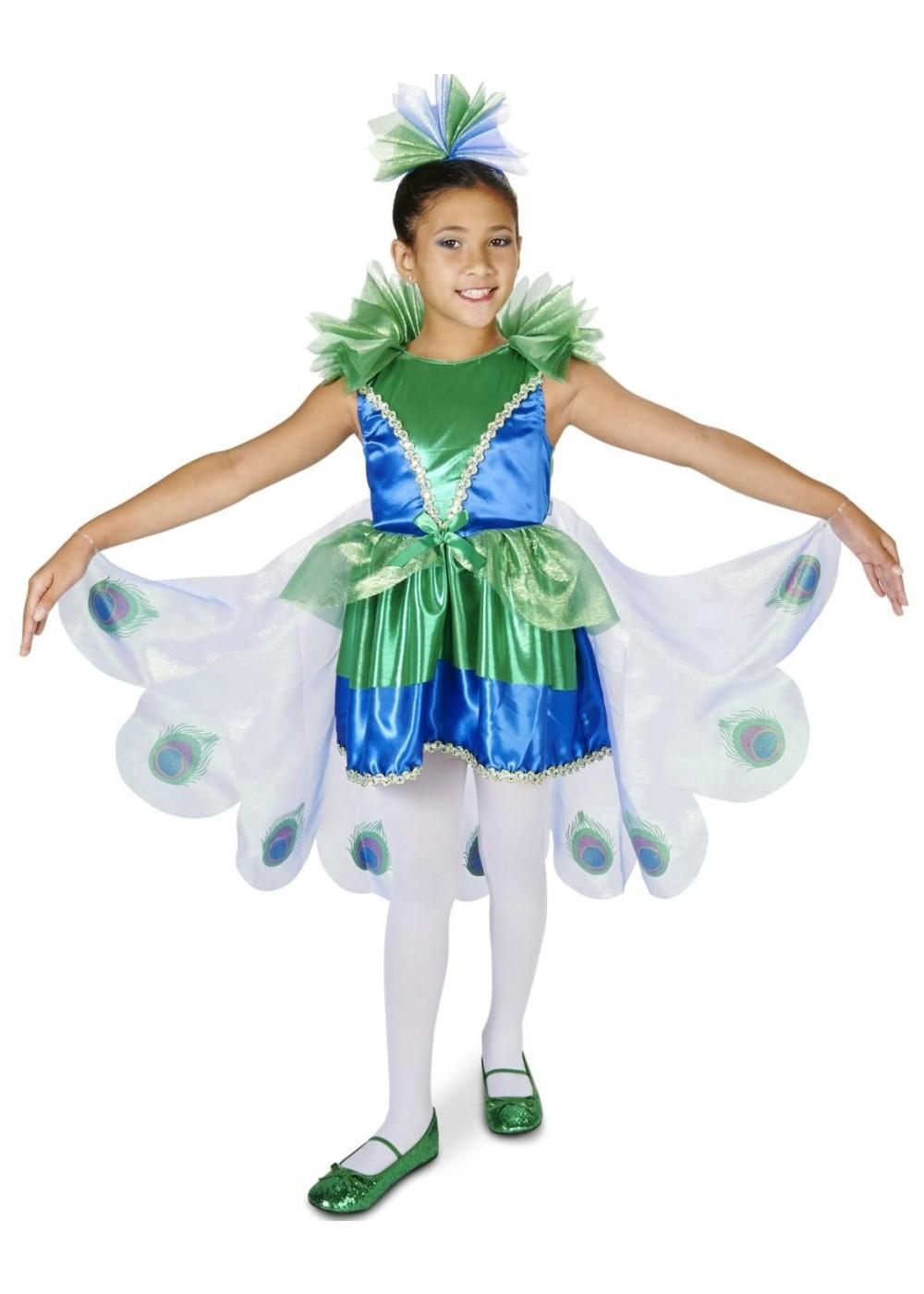 f27d4fafbce Girls Peacock Costume - Animal Costumes