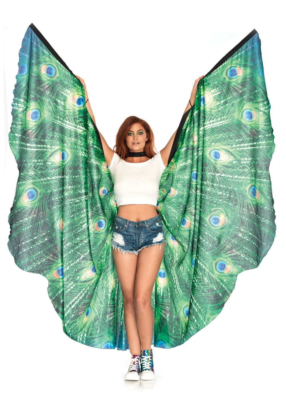Peacock Feather Halter Wings