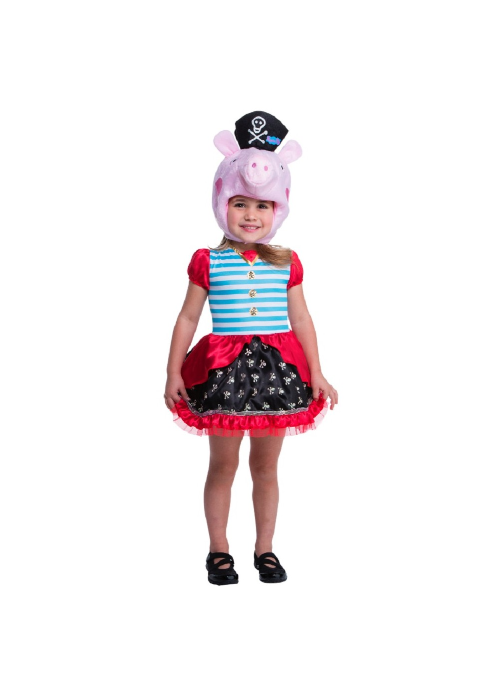 Toddler Girls Peppa Pig Pirate Costume  sc 1 st  Wonder Costumes & Peppa Pig Pirate Girls Costume - TV Show Costumes