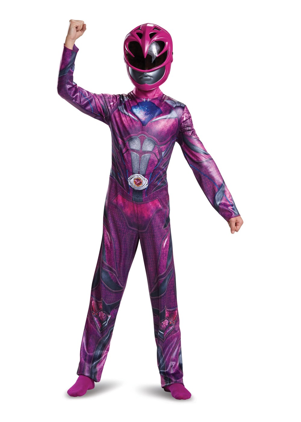 Kids Power Rangers Movie Pink Ranger Girls Costume