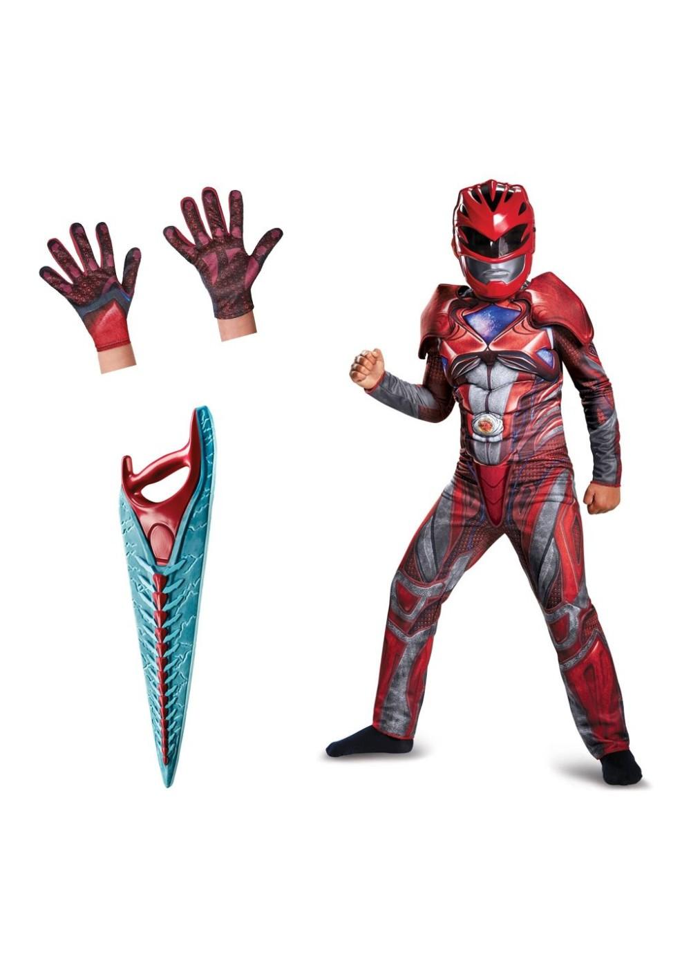 Red Boys Power Ranger Movie Costume Kit  sc 1 st  Wonder Costumes & Red Boys Power Ranger Movie Costume Kit - Superhero Costumes