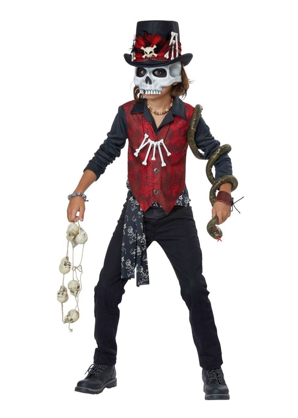 Scary Voodoo Boys Costume  sc 1 st  Wonder Costumes & Voodoo Priest Costumes - Scary Halloween Costumes