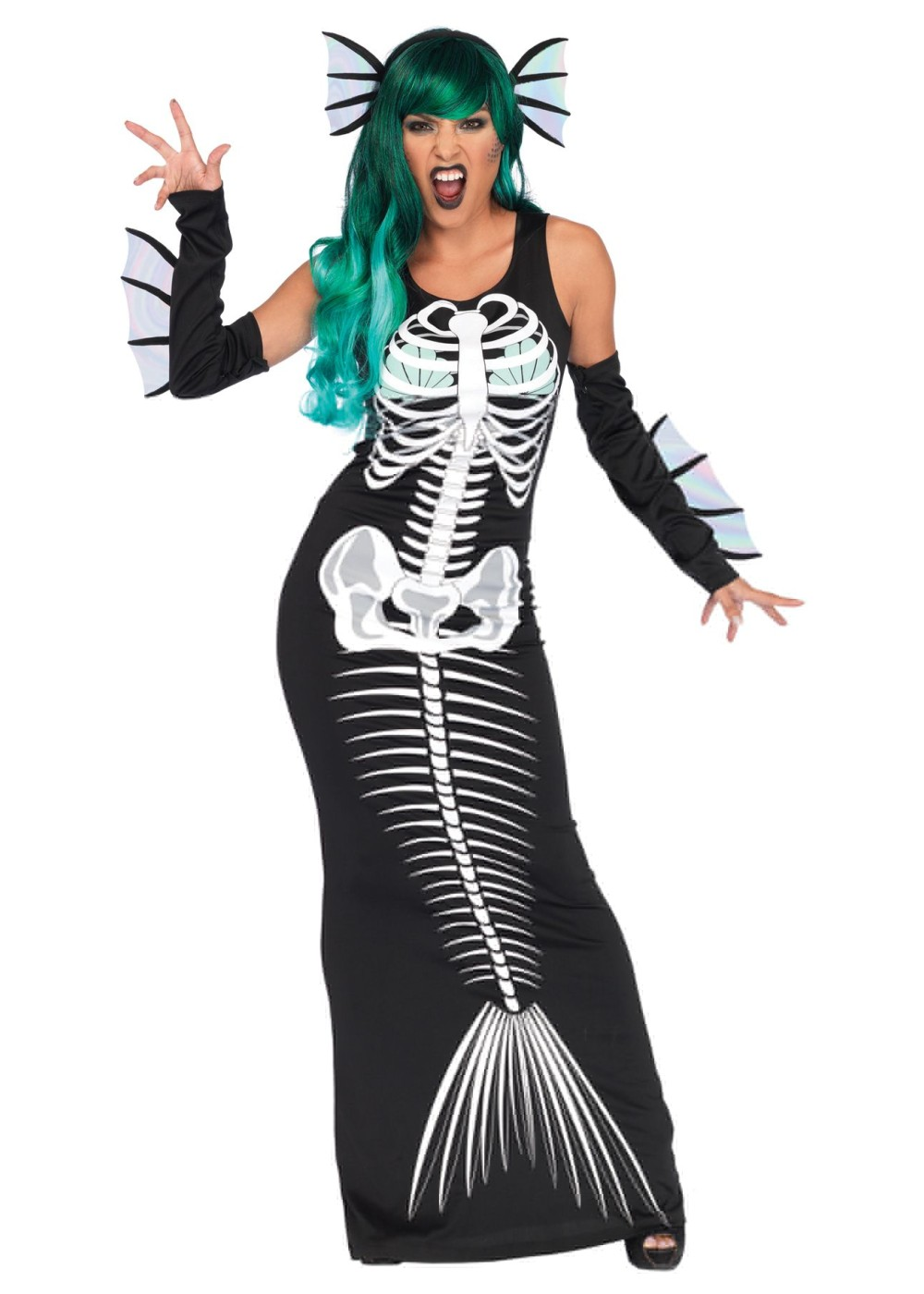 Skeleton Mermaid Women Costume