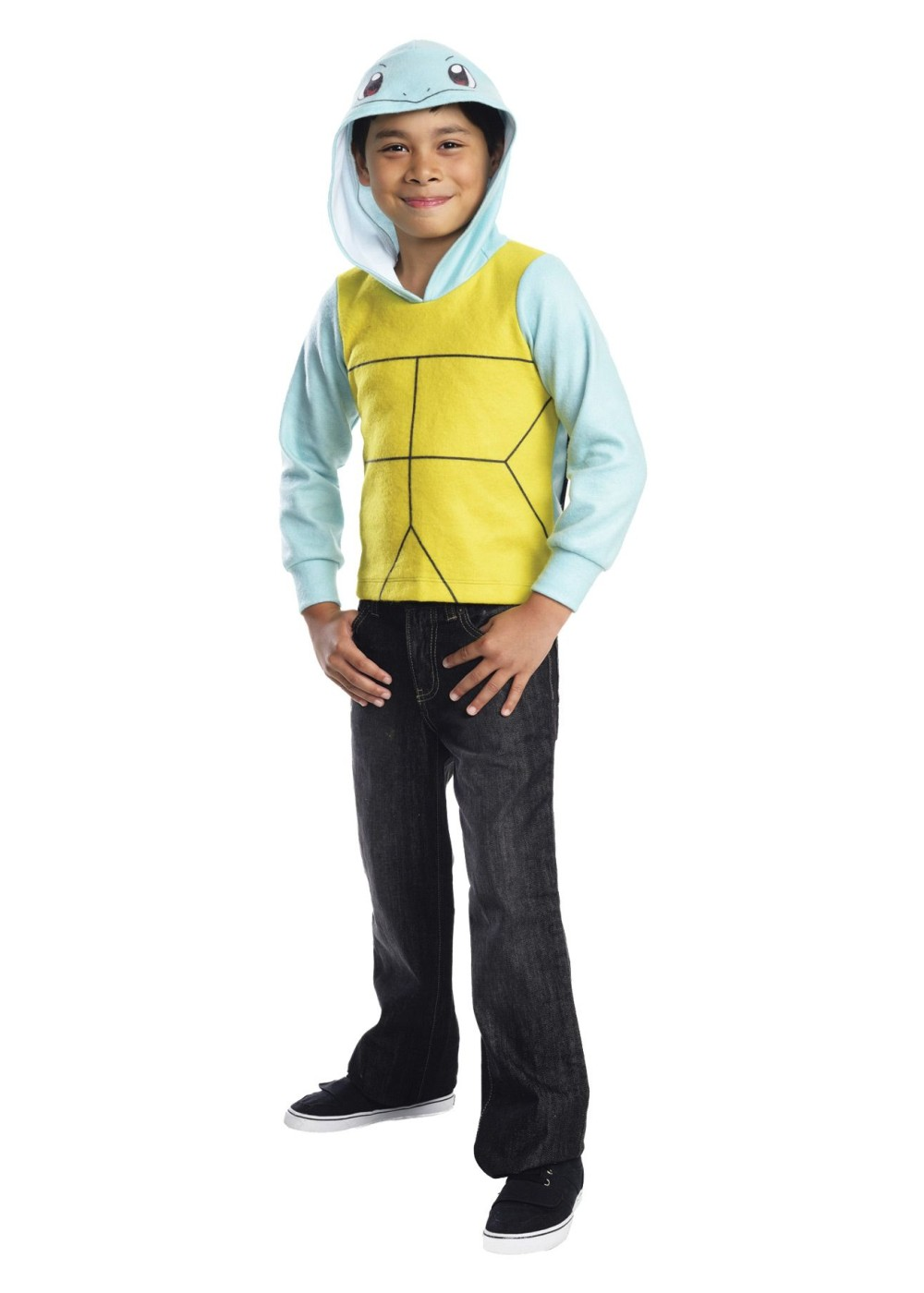 Squirtle Hoodie Boys Costume - Video Game Costumes-3488